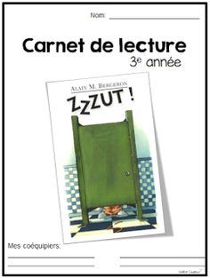 La classe de Madame Valérie: Carnet de lecture French Teaching Resources, Teaching French, Teaching Tools, Teacher Resources, Teaching Ideas, Writing Comprehension, School Organisation, 3rd Grade Writing, French Immersion