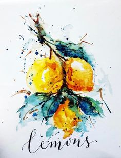 Lemons, Sanketi watercolors
