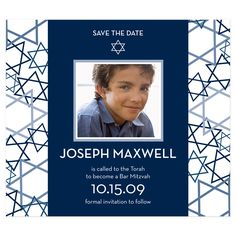 Save the Date Bar Mitzvah Magnets