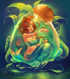 Mermaid drop't shirt design - 30 Mind Blowing Examples of Mermaid Art  <3 <3