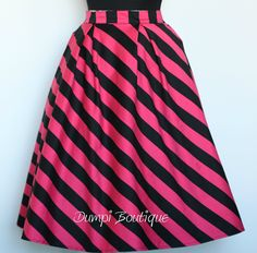 Fuchsia Swirl Skirt, Garden Party, Rehearsel Dinner, Casual, Party, 1950 Skirt - pinned by pin4etsy.com