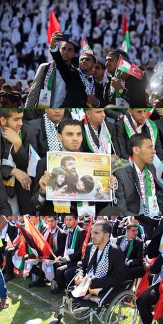 Palestinian couples take part in a mass wedding ceremony in Gaza city on May 31/2015. Nearly 4000 Palestinian couples were married in a ceremony funded by the Turkish government.