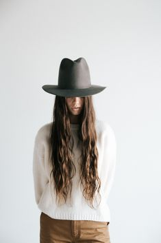 fad5abc1c0 Billie Dark Grey - Tall crown hat