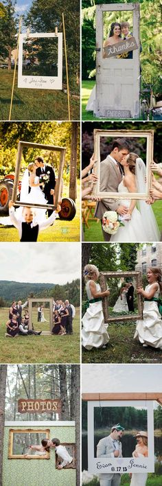 awesome wedding photo ideas with photo frame booths