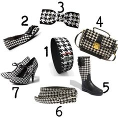 cheap houndstooth accessories,