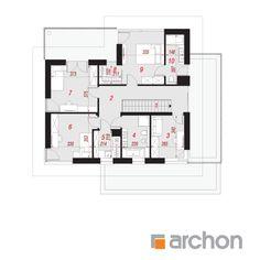 Projekt domu Willa Miranda 2 (G2) - ARCHON+ Beautiful House Plans, Beautiful Homes, Dream Home Design, Modern House Design, Home Projects, Floor Plans, How To Plan, House Styles, Houses