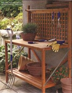 Fantasy potting bench Garden Inspirations Pinterest Gardens