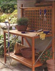 Fantasy potting bench Garden Inspirations Pinterest Gardens