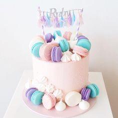 Goodies cake - backing - Macaron Drip Cakes, Fancy Cakes, Cute Cakes, Torta Candy, Gateau Baby Shower, Macaroon Cake, Cute Birthday Cakes, Teen Cakes, Bolo Cake