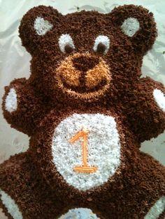 Ideas And Recipes First Birthday Pinterest Teddy Bear Cakes - Bear birthday cake