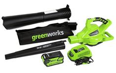 Greenworks 185 MPH Variable Speed Cordless Leaf Blower/Vacuum, Battery and Charger Included 24322 Riding Lawn Mowers, Lawn Maintenance, Cordless Vacuum, Lead Acid Battery, Leaf Blower, Variables, Wet And Dry, Lawn And Garden, Gardening