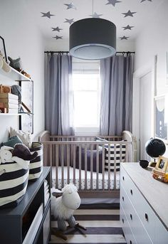 Sophisticated Nursery Closet Crystal Palecek Design Small Ba within Baby Room Designs For Small Spaces. Baby Bedroom, Baby Boy Rooms, Baby Boy Nurseries, Baby Room Decor, Nursery Room, Baby Boys, Ikea Nursery, Girls Bedroom, Apartment Nursery
