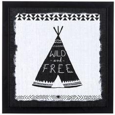 Wild & Free Teepee Framed Art