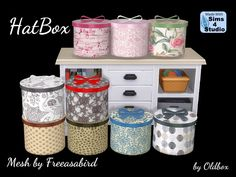 Hat Box by Oldbox at All 4 Sims • Sims 4 Updates
