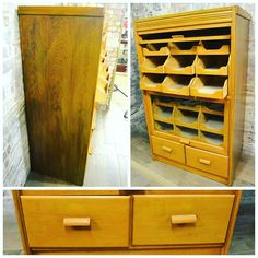 Flip Up Shirt Cabinet at D and A Binder | We are selling stunning flip up shirt cabinets of many sizes and shapes - this light wood cabinet has a gorgeous array of 20 compartments for product display and is the ultimate piece for a department store or home! Contact us directly for item details - we're listing it on Selling Antiques too so check out our stock!