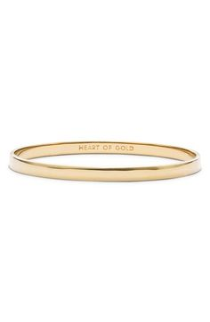 kate spade new york 'idiom - heart of gold' bangle available at #Nordstrom