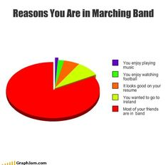 marching band memes | Reasons You Are in Marching Band....but Florida instead of Ireland