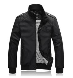 Men's Casual Jacket-Blue/Black/Grey