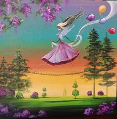 Day Of the Dead Acrylic Original Painting Fairy  Dia de by KatTatz, $99.99
