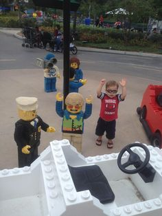 Apparently my two year old got mixed up with the wrong crowd at Legoland... - Imgur
