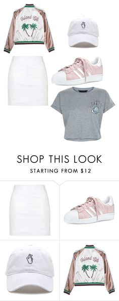 """""""Untitled #137"""" by jalynn41099 ❤ liked on Polyvore featuring Topshop, adidas and New Look"""