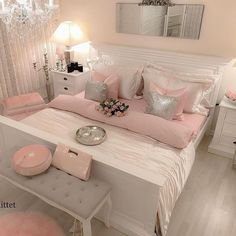 4 Amazing Useful Tips: Girls Bedroom Remodel Attic Spaces small bedroom remodel ideas.Small Bedroom Remodel Before And After master bedroom remodel attic spaces. Glam Bedroom, Stylish Bedroom, Home Bedroom, Girls Bedroom, Master Bedroom, Pink Bedrooms, 1920s Bedroom, Bedroom 2018, Pink Bedroom Decor