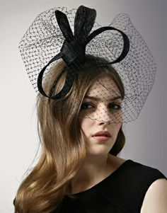 Philip Treacy Vintage Inspired Black Fascinator