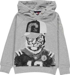 Camps Tiger hooded sweatshirt Heather grey `10 years Fabrics : Brushed polyester jersey Details : tiger print, Straight cut, with Hood, Long sleeves, Raglan sleeves, Elastic cuffs, Elastic waist, Removable hood, Lining Composition : 65% Polyester, 35% C http://www.comparestoreprices.co.uk/january-2017-7/camps-tiger-hooded-sweatshirt-heather-grey-10-years.asp