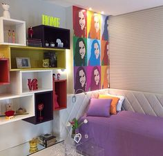 Quarto de Adolsecente. Decor. Teen