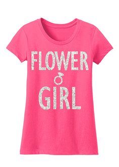 FLOWER GIRL #Wedding #Shirt Pink with Glitter Print by #NobullWomanApparel, for only $24.99! Click here to buy https://www.etsy.com/listing/203423184/flower-girl-shirt-pink-with-glitter?ref=shop_home_active_13