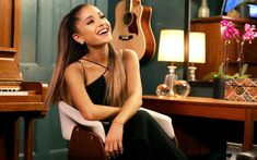 Download wallpapers Ariana Grande, 2017, superstars, Jimmy Fallon, beauty, american singer
