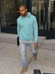 Kanye West wears Balmain Washed Pullover Side Zip Hoodie | UpscaleHype  http://kidDyno.com