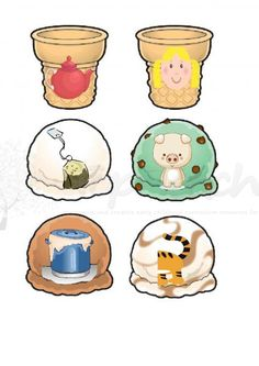 cool compund word game - match the two pics in the scoops to make a new word on the corresponding ice cream cone