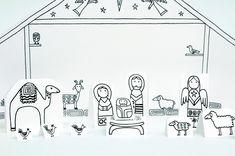 ) (Made by Joel) Paper City Nativity Scene (Joyfully Expanded! Diy Nativity, Christmas Nativity Scene, Felt Christmas Ornaments, Etsy Christmas, Christmas Makes, Christmas Crafts For Kids, A Christmas Story, Nativity Scenes, Christmas Printables