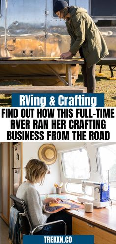 Are you a hobby crafter or maybe you run a crafting business and you're wondering if you can do it while full-time RVing? The answer is yes! Check out our interview with Laura Preston who full-time RV'd in her Airstream and ran a successful quilting business from the road. She gives tips on RV storage, why she was a full-time RVer and how she made this type of business work while enjoying the beauty of the United States. #fulltime #RVlife #RVlifestyle #RVliving #crafting #storage