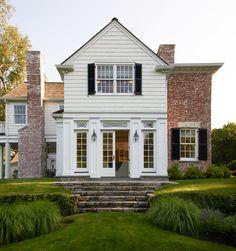 Brick Siding, White Siding, Fresh Farmhouse, Modern Farmhouse, House With Porch, Residential Architecture, Style At Home, My Dream Home, Dream Boy