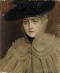Albert Edelfelt - Portrait of a Young Woman 1891