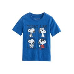 "Toddler Boy Jumping Beans® Snoopy ""Today I Am"" Graphic Short-Sleeve Tee, Size: 5T, Blue Other"