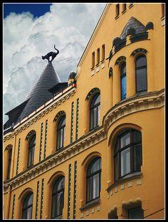 Riga, Latvia The Cat house #riga #latvia