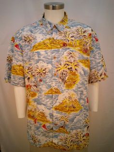 The Territory Ahead Hawaiian Short Sleeve Shirt Men's XL 100% Cotton #TheTerritoryAhead #Hawaiian