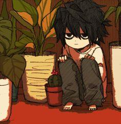 [Death Note] L Lawliet/ Ryuzaki Death Note Fanart, Death Note デスノート, Manga Anime, Anime Art, Fan Art, Chibi, L Wallpaper, L Lawliet, Dark Anime