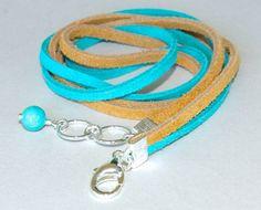 57ab8020c5a3 BOHO SUEDE Tiple wrap Bracelet Turquoise   Beige by WrappedinYou Piel De  Ante