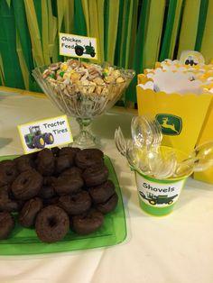 John Deere party dessert tables