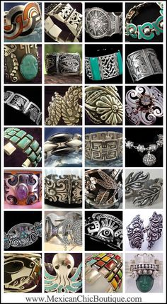 Taxco Jewelry ♥ Bold Bracelets ♥   Mexican Sterling Silver ♥ Vintage Sterling Silver ♥ Vintage Bracelet