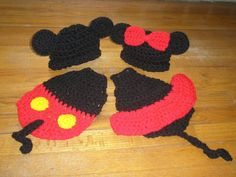 CIJ  SALE  Crochet Cuddle Cape Set  Mickey & by TupeloHoneys, $35.00