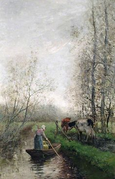 The Athenaeum - Landscape with Cattle. Date unknown (Willem Maris - )