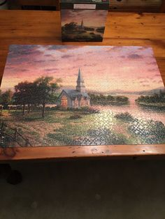 Thomas Kinkade 1000 Puzzle  Sunrise Chapel  Used | eBay