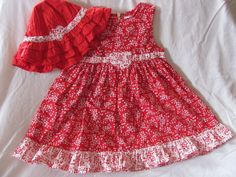 Gymboree Red White Floral Heart Dress & Hat 3T Valentine's Day #Gymboree #DressyEveryday