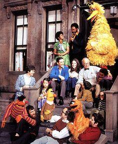 Sesame Street, television show. The original Sesame Street cast Photo Vintage, Vintage Tv, Vintage Photos, Muppet Show, Retro, Fraggle Rock, Jim Henson, Old Tv Shows, My Childhood Memories