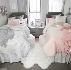 Sasha Stripe Comforter and Sham Set – Twin/Twin XL Pink Ombre Comforter Set – Full/Queen Dorm Bedding Set